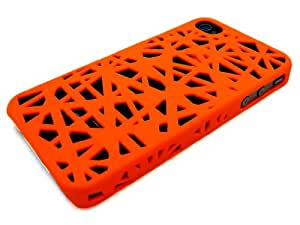 Bastex Wireless Brand: Snap-on Case Compatible with Apple Iphone 4 / 4s , Orange Bird Nest Rear