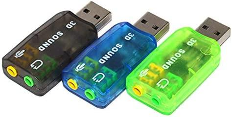 OUOU - Adaptador de tarjeta de sonido externo (3 piezas, conector ...