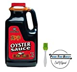 Kikkoman Oyster Flavored Sauce Red Label, 5 Pound with Silicone Basting Brush in a Prime Time Direct Sealed Bag