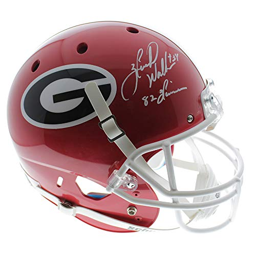 Herschel Walker Georgia Bulldogs Autographed Signed Schutt Full Sized Replica Helmet w/ 82 Heisman Inscription - JSA Certified