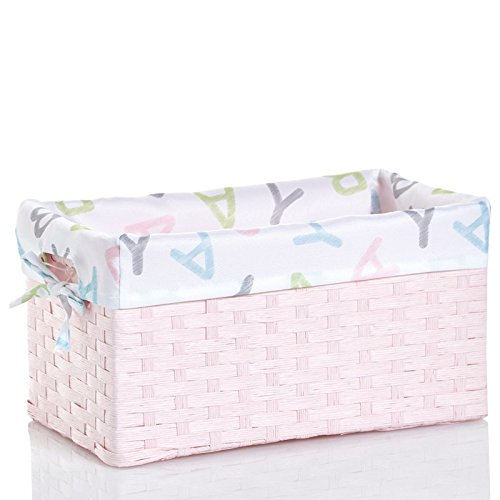 Amazon.com : Gramercy Baby Alphabet Baby Storage Basket. Perfect Storage To  Keep All Your Little Oneu0027s Baby Items. (Small, Pink) : Baby