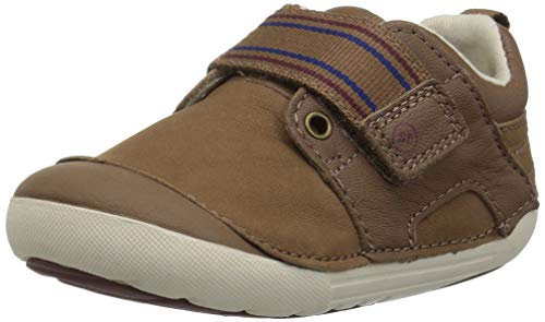 Stride Rite Boys' Soft Motion Cameron Sneaker, Brown, 4.5 M US Toddler (Soft Leather Boys)