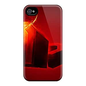 New Arrival Case Cover With DtYqSPU-9932 Design For Iphone 4/4s- Devilfire