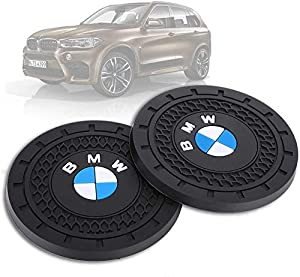 Soondar 2Pcs Car Interior Anti Slip Cup Mat for BMW 1 3 5 7 Series F30 F35 320li 316i X1 X3 X4 X5 X6 (2.75) (Color: For BMW)