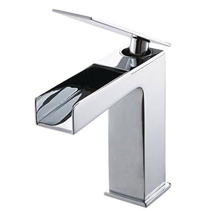 Lyon Bathroom Faucet By Desajni   Single Handle Bathroom Faucet, Waterfall  Spout, Italian Inspired