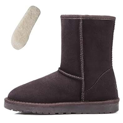 Amazon.com | TIANGBOLUN Women's Comfort Faux Suede Fur Mid