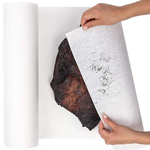 White Butcher Paper Roll 24 by 2400 Inches (200 Feet) - USA Made, Fda Approved - Butcher Paper for Smoking Meat, BBQ Butcher Paper, White Wrapping Paper ()