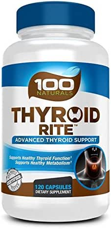 Thyroid Support Supplement - 120 Capsules -2 Month Supply (Non-GMO) Improve Your Energy & Increase Metabolism for Weight Loss - W/ Iodine & Ashwagandha Root for Thyroid Health -Thyroid Rite