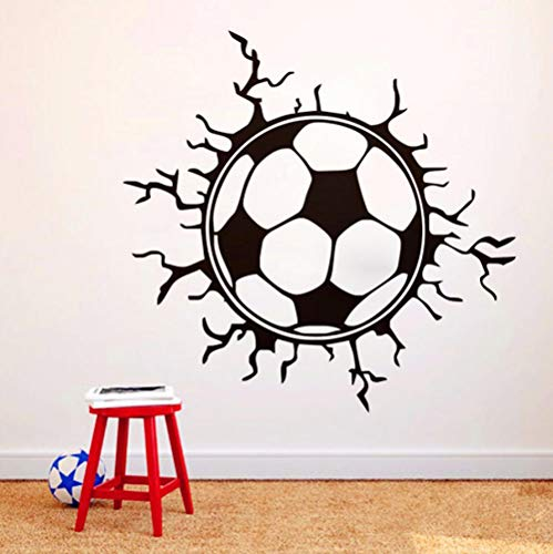 - LLHLLH Wall Stickers for Kids Room Football Soccer Broken Wall Art Sports Applique boy Room 44x42cm