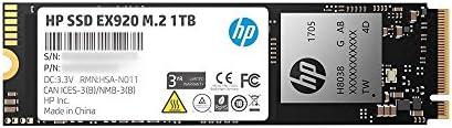 HP EX920 M.2 1TB PCIe 3.1 X4 Nvme three-D TLC NAND Internal Solid State Drive (SSD) Max 3200 Mbps 2Yy47Aa#ABC