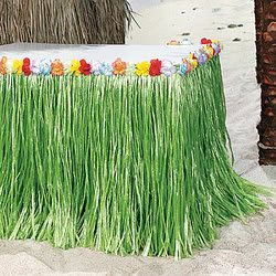 Flowered Green Table Skirt (3 Pcs) [Toy] (Table Skirt Flowered)