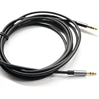 Black 4.5ft Gold Plated Design 3.5mm Male to 2.5mm Male Car Auxiliary Audio cable Cord headphone connect cable for Apple, Android Smartphone, Tablet and MP3 Player