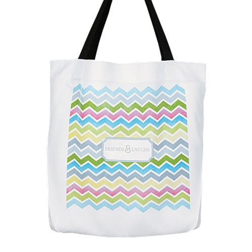 Hortense B. Hewitt Friends and Laughs Chevron Tote Bag