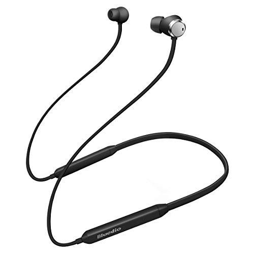 Bluedio TN (Turbine) Active Noise Cancelling Earbuds Neckband Earphones, Bluetooth 4.2 Wireless Sports Headphones Headsets,Magnetic Sweatproof Running Earbuds with Mic Magnetic Design (Black)