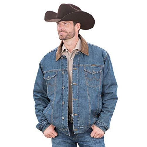 Wrangler Men's Conceal Carry Blanket Lined Denim Jacket - Wrangler Lined Jeans Flannel