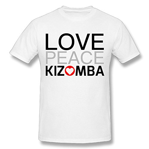 Love Peace Kizomba Men's White Tee Shirt Size 5XL Sport