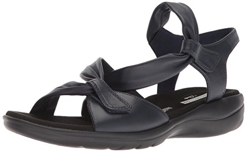 Saylie navy Clarks leather Women's Sandals Moon Y7z5wTqP
