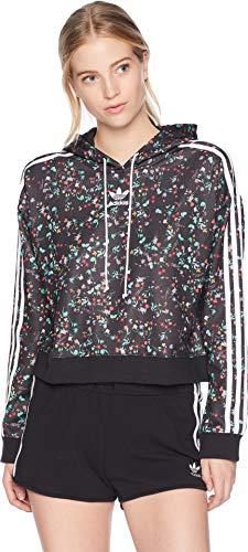 Multi Print Sweater - adidas Originals Women's Fashion League All Over Print Hooded Sweater, Multi, XL