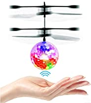 UTTORA Flying Ball, Kids Toys RC Infrared Induction Helicopter Airplane Fun Gadgets Mini Drone Flying Toys with Flashing LED