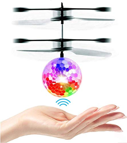 UTTORA Flying Ball, Kids Toys RC Infrared Induction Helicopter Airplane Fun Gadgets Mini Drone Flying Toys with Flashing LED Lights for Kids Adults