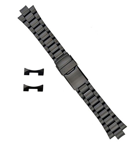 (Citizen 59-S01091 Original Replacement Black Ion Plated Stainless Steel Watch Band Bracelet fits BJ7005-59E CA0295-58E B877M-S015707)
