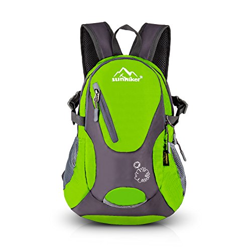 Sunhiker Cycling Hiking Backpack Water Resistant Travel Backpack Lightweight Small Daypack M0714 (Green)