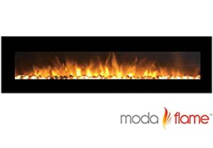 "Amazon Moda Flame 95"" Grand Pebbles Electric Wall"