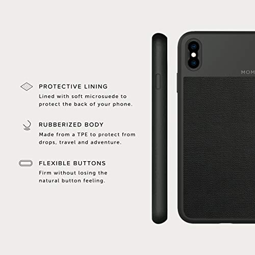 on sale e85b6 a5f8f iPhone Xs Max Case || Moment Photo Case in Black Canvas - Thin, Protective,  Wrist Strap Friendly case for Camera Lovers.