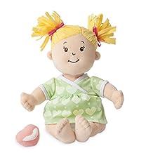"Manhattan Toy Baby Stella Blonde Soft Nurturing First Baby Doll for Ages 1 Year and Up, 15"""