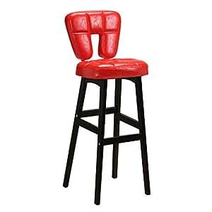 Amazon.com: High Back Bar Chair, Beech Wood Leg and Faux