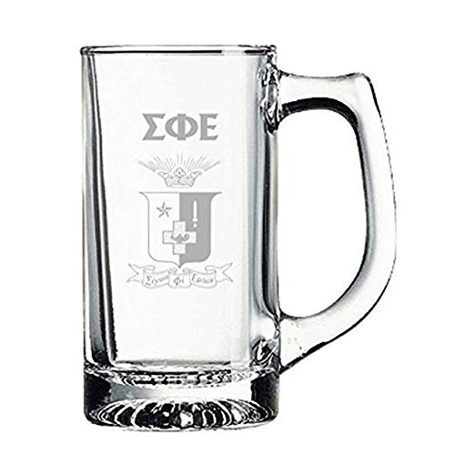 (Sigma Phi Epsilon SigEp Glass Engraved Mug Transparent)