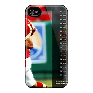 Shock-Absorbing Hard Phone Covers For Iphone 6 (EoL10140male) Custom Attractive Kansas City Chiefs Pattern