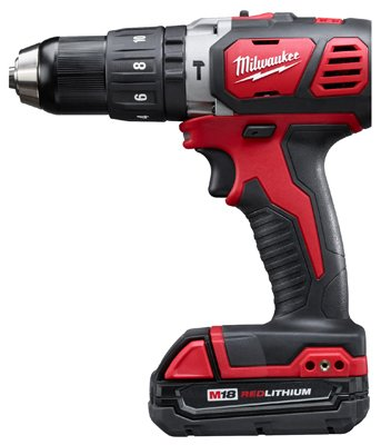 Milwaukee 2607-22CT 0.5 in. M18 Cordless Compact Hammer Drill Driver Kit