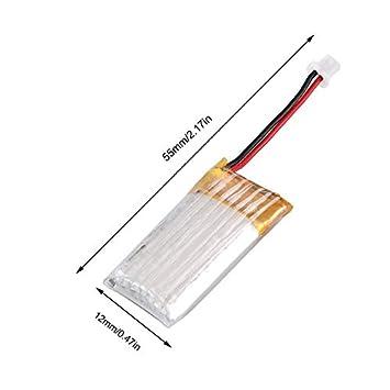 HoganeyVan Batteria al Litio RC 3.7V 100mAh Batteria Ricaricabile Batteria Lipo Batteria Li-on per Mini 1//28 Mosquito Car RC Car Set 1 * Batteria