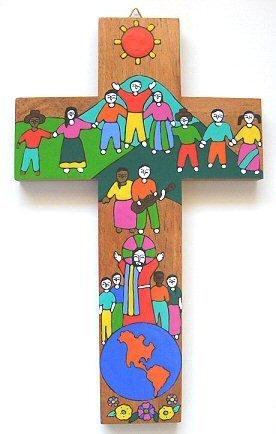 (Devotional GiftsUK Children's Cross. Wood Cross. Hand painted Cross.6(15 cm) High )