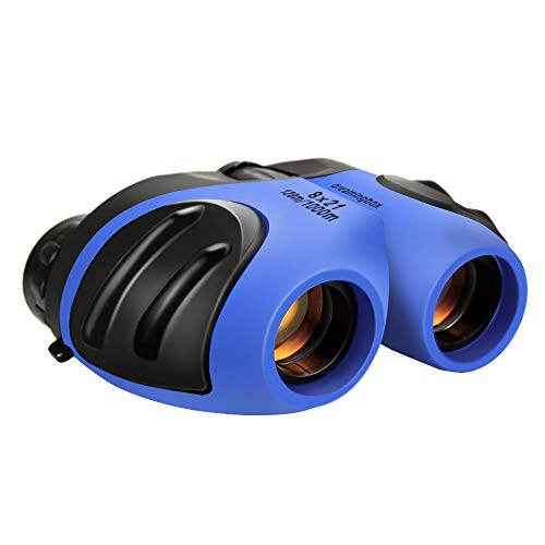 Dreamingbox Toys for 4-5 Year Old Boys, Binoculars for Children, TOG Gift 8x21 Compact Telescope to Wildlife & Theater Hunter Optical Zoom Gifts for 4-10 Years Old Boy Blue TG02