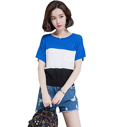 WHTCE Camiseta Para Mujer Manguitos Cortos Salud Protección Solar Belleza General Anti-fade Noble Smooth C