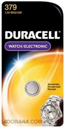 Duracell D379BPK Watch / Electronics Battery, 1.5 Volt Silver Oxide