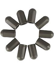 10 piezas de palillo del tambor Mallet Herramientas Cabeza Protectores Cubierta universal de silicona Palillo manga silencioso Prácticas for Tambor Instrumento Partes Adecuado Accesorios