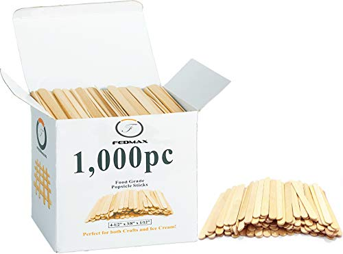 (Popsicle Sticks, (1,000pc), 4-1/2