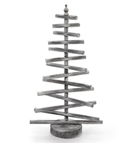 26'' Gray, White and Brown Wooden Dowel Table Top Christmas Tree - Unlit by CC Christmas Decor (Image #1)