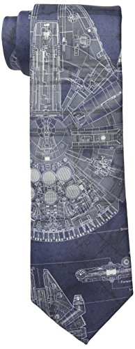 (Star Wars Men's Millennium Falcon Tie, Blue, One)