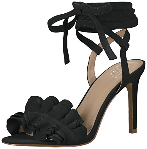 Women Ankle Pointed Toe Sandals High Heels Shoes (Black) - 7
