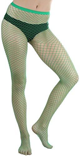 Green Fishnet Tights (ToBeInStyle Women's Mini Diamond Net Spandex Panty - Kelly)