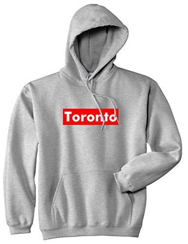 Toronto Canada Red Box Pullover Hoody Medium Grey ()