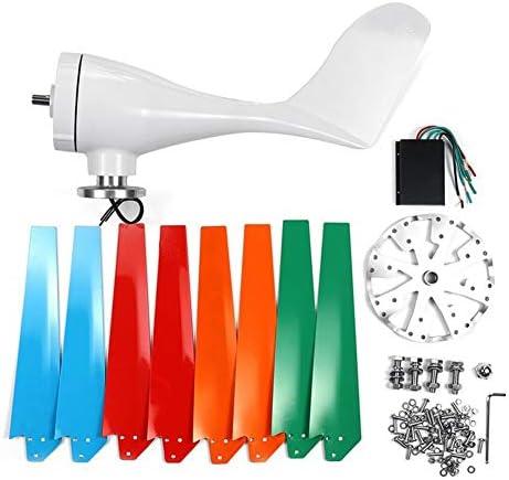 300W/400W Windgenerator 8 Blätter Horizontaler Windturbinengenerator 12V/24V/48V Windmühlen-Energieturbinen Gebühr Für Heimcamping (Specification : 400W 12V)