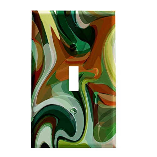 Swirl Switchplate - Gotham Decor Deco Camo Swirl Switchplate/Switch Plate Cover