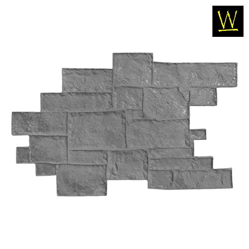 Concrete Stamping - Walttools Medievil Cobble Concrete Stamp Singles Decorative Random Cobblestone Pattern, Sturdy Polyurethane, Flexible Texturing Mat, Realistic Detail (Floppy)