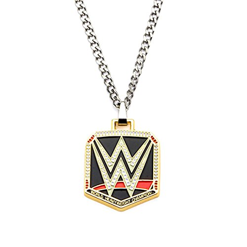 WWE Logo Pendant Stainless Steel Necklace by WWE