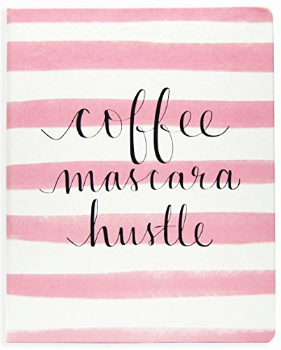 """Eccolo Dayna Lee Collection """"Coffee Mascara Hustle"""" 8x10"""" Hardcover Journal / Notebook"""